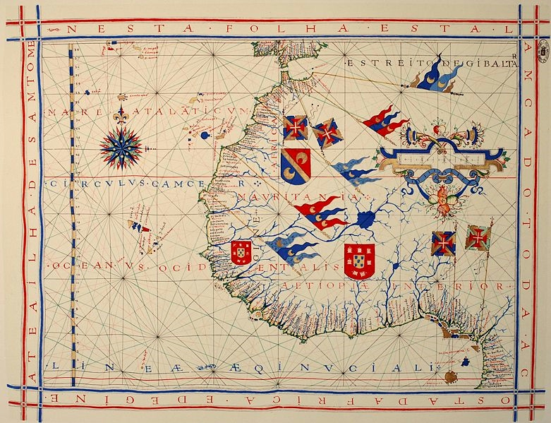A pre-Mercator nautical chart of 1571